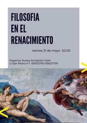 Filosofía en el Renacimiento